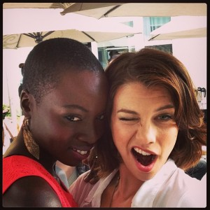 @elsiefoxchase #danaigurira #ewcomiccon #sdcc #TheWalkingDead